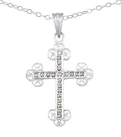 Diamond Mystique® Cross Pendant With Chain