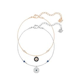 Swarovski® Crystal Wishes Evil Eye Bracelet Set