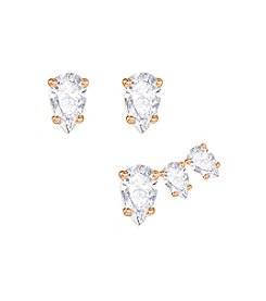 Swarovski® Attract Pear Pierced Earring Set