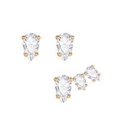 Swarovski® Attract Pear Pierced Earring Set