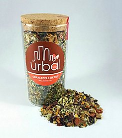 Urbal Tea Cran Apple Detox Tea Jar