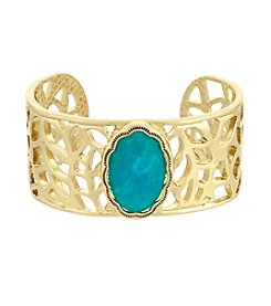 Laundry® Stone Open Metal Cuff Bracelet