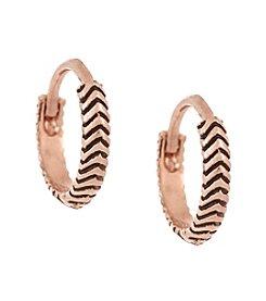Laundry® Chevron Huggie Hoop Earring
