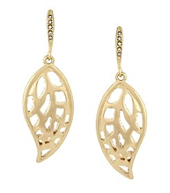 Laundry® Cut Out Leaf Drop Earring
