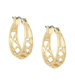 Laundry® Small Cut Out Hoop Earrings