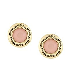 Laundry® Round Stone Stud Earring
