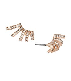 Laundry® Pavé Multi-Hoop Rose Goldtone Stud Earrings