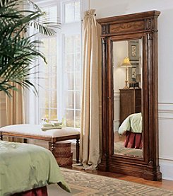 Hooker® Furniture Floor Mirror With Jewelry Armoire Storage