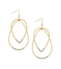 Jessica Simpson Layered Hoop Drop Earrings
