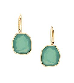 Jessica Simpson Prarie Trail  Octagon Single Stone Drop Earrings