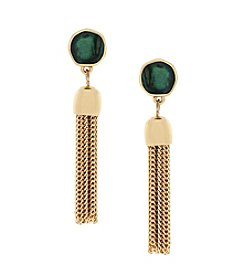 Jessica Simpson Prarie Trail  Post Drop Tassel Earring