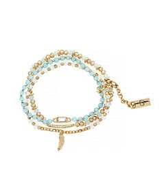 Jessica Simpson Prairie Trail Brace Set Of Three Ocean Beads Bracelet