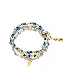 Jessica Simpson Prairie Trail Brace Set Of 3 Ocean Beads Bracelet