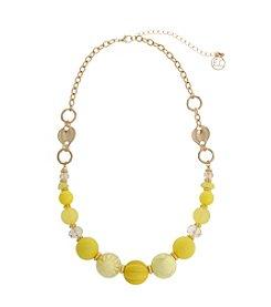 Erica Lyons® Lemon Poppy Short Beaded Necklace