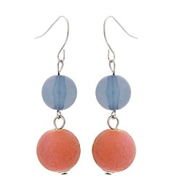 Erica Lyons® Cool Double Drop Pierced Earrings