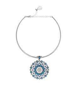 Erica Lyons® Choker Beaded Burst Pendant Necklace