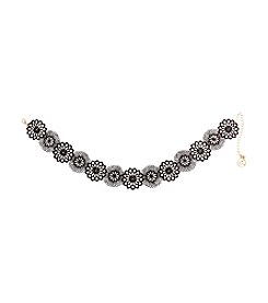 Erica Lyons® Choker Lace Flowers Necklace