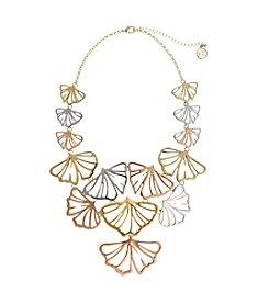 Erica Lyons® Petal To The Metal Bib Necklace