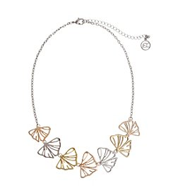 Erica Lyons® Petal To The Metal Leaf Front Necklace