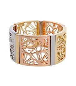 Erica Lyons® Petal To The Metal Wide Stretch Bracelet