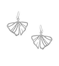 Erica Lyons® Petal To The Metal Drop Leaf Pierced Earrings
