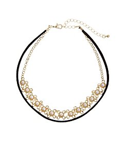 Erica Lyons® Simulated Pearl Front Choker Necklace