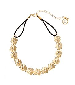 Erica Lyons® Choker Front Flowers Necklace