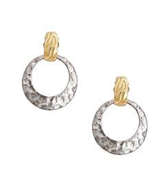 Erica Lyons® Mixology Door Knocker Clip Earrings