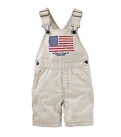 OshKosh B'Gosh® Baby Boys American Flag Shortalls