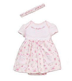 Little Me® Baby Girls' Flowers Bodysuit Dress