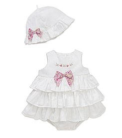 Little Me® Baby Beauty Popover Dress and Hat Set