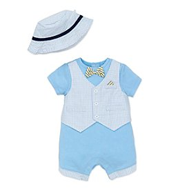 Little Me® Baby Boys' Vested Romper and Hat Set