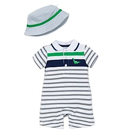 Little Me® Baby Boys' Cute Dino Romper and Hat Set