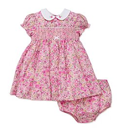 Little Me® Baby Girls' Smocked Dress and Diaper Cover Set