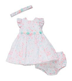 Little Me® Baby Girls' Shimmer Dress, Panty and Headband Set