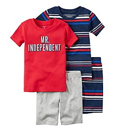 Carter's® Boys' 5-12 4-Piece Mr. Indepedent Pajama Set