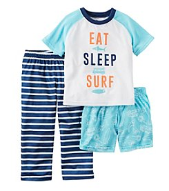 Carter's® Boys' 5-12 3-Piece Eat Sleep Surf Pajama Set