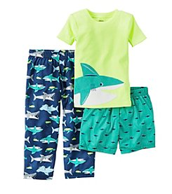 Carter's® Boys' 5-12 3-Piece Shark Pajama Set