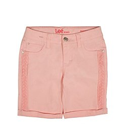 Lee® Baby Girls' Crochet Trim Bermuda Shorts