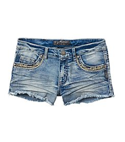 Silver Jeans Co. Girls' 7-16 Lacy Denim Shorts