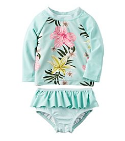 Carter's® Baby Girls' Floral Rashguard Swimsuit