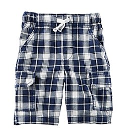 Carter's® Baby Boys' 12-24 Month Plaid Drawstring Shorts
