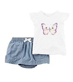 Carter's® Baby Girls' Butterfly Skirt Set