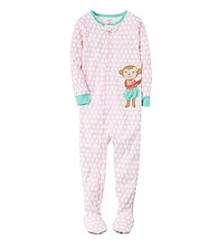 Carter's® Baby Girls' 1-Piece Monkey Pajamas