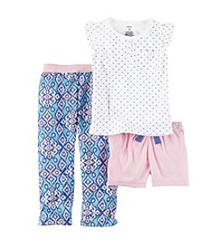 Carter's® Baby Girls' 3-Piece Geo Print Pajama Set