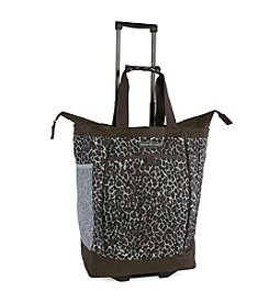 Pacific Coast® Leopard Rolling Shopping Tote Bag