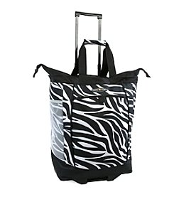 Pacific Coast® Zebra Rolling Shopping Tote Bag