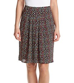Kasper® Dot Printed Pleated Skirt