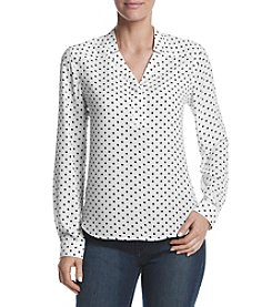 Nine West® Dot Printed Blouse