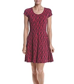MICHAEL Michael Kors® Graphic Mamba Fit and Flare Dress